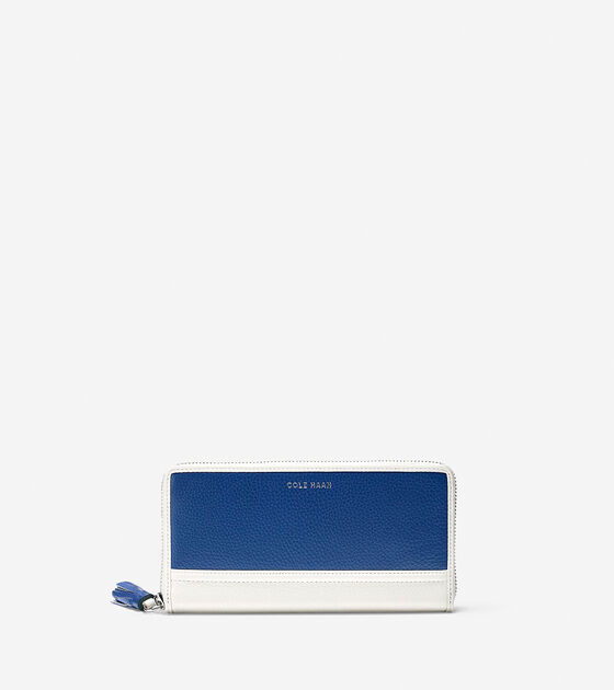 Accessories > Reiley Tassel Continental Zip Wallet