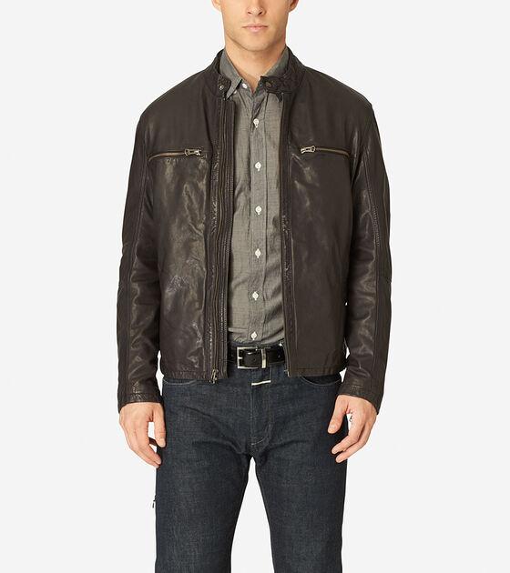 Outerwear > Vintage Leather Moto Jacket