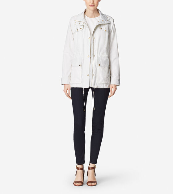 Outerwear > Silky Nylon Rain Parka