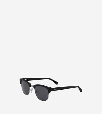 Acetate/Metal Square Sunglasses