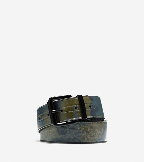 Accessories > 38mm Camo Leather Belt