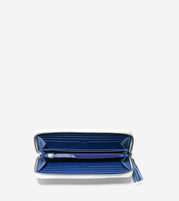 Reiley Tassel Continental Zip Wallet