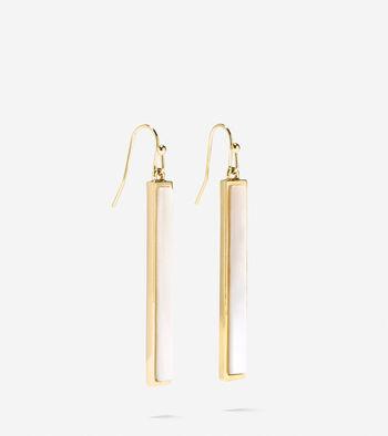 Tali Mother Of Pearl Linear Drop Earrings
