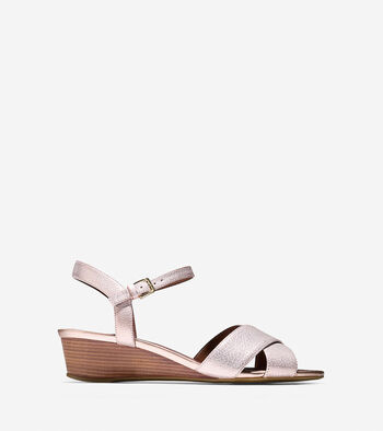 Elsie Criss Cross Wedge Sandal (40mm)