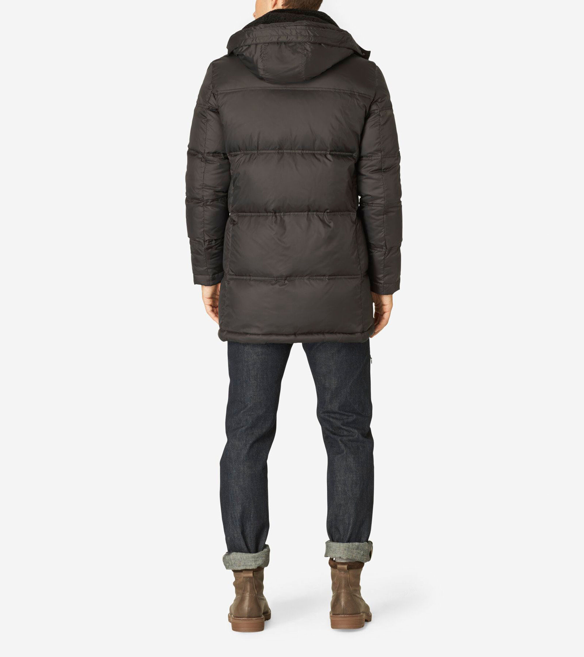 Men's Hood Quilted Down Jacket in Black | Cole Haan Outlet : quilted down jacket mens - Adamdwight.com