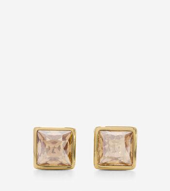 Tali L'Heure Bleue Swarovski Square Stud Earrings