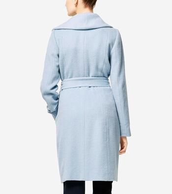 Italian Alpaca Wrap Coat