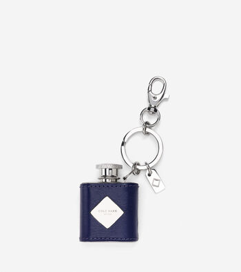 Novelty Leather Wrapped Flask Key Fob