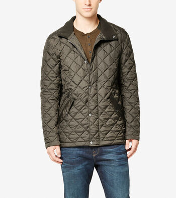 Quilted Stand Collar Jacket