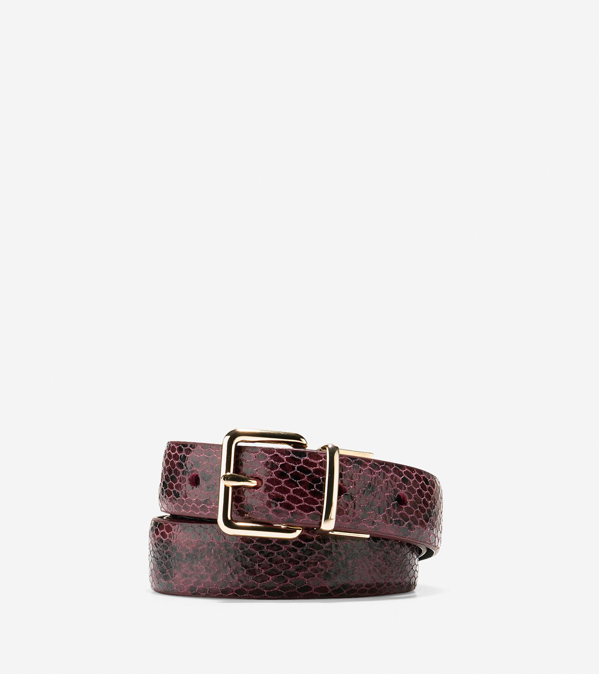 Accessories > Reversible Snake Print-Leather Belt