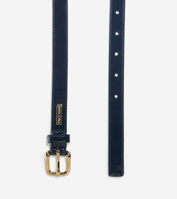 Thin Patent Leather Belt