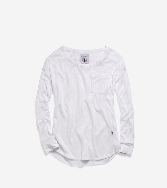 Apparel > Women's Pinch Long Sleeve Jersey Pocket Crew Neck
