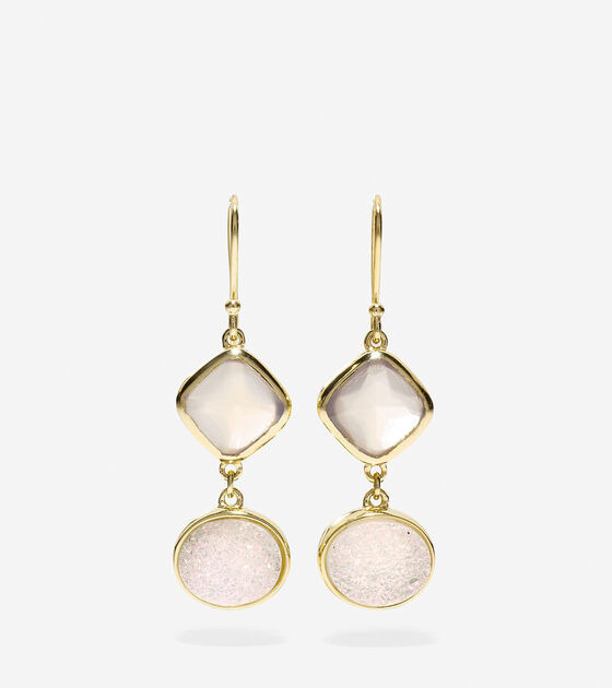 Accessories & Outerwear > To The Moon Semi-Precious Double Drop Earrings