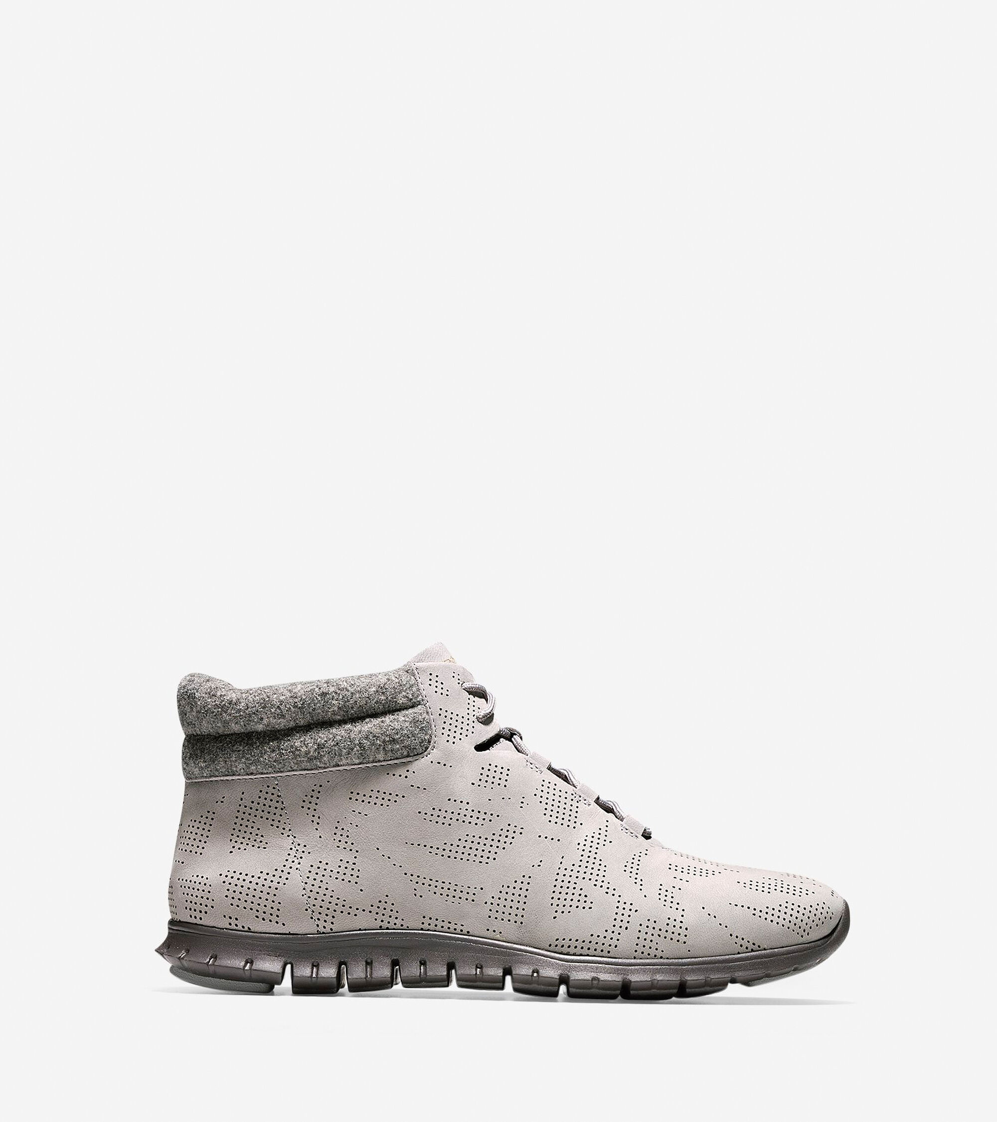 Womens Cole Haan ZEROGRAND Winterized Perforated Chukka Bootss