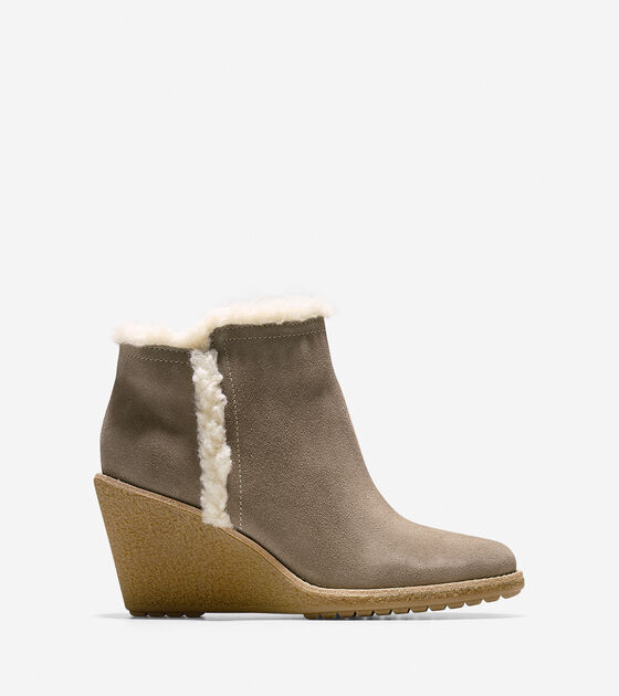 Shoes > Michelle Shearling Waterproof Short Boot (55mm)