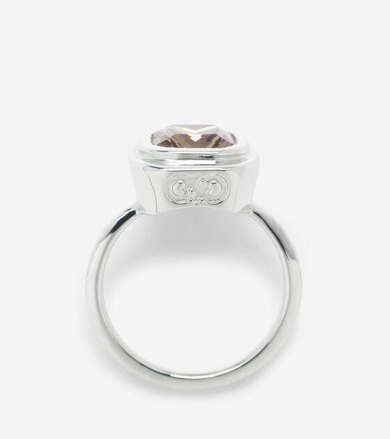 Cushion Cut Swarovski Ring