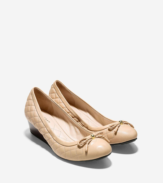 Tali Grand Quilted Lace Wedge (40mm)