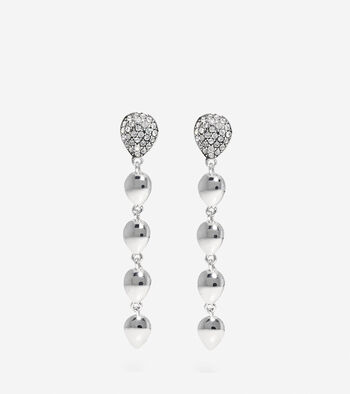 Waters Edge Swarovski Teardrop Drop Earrings