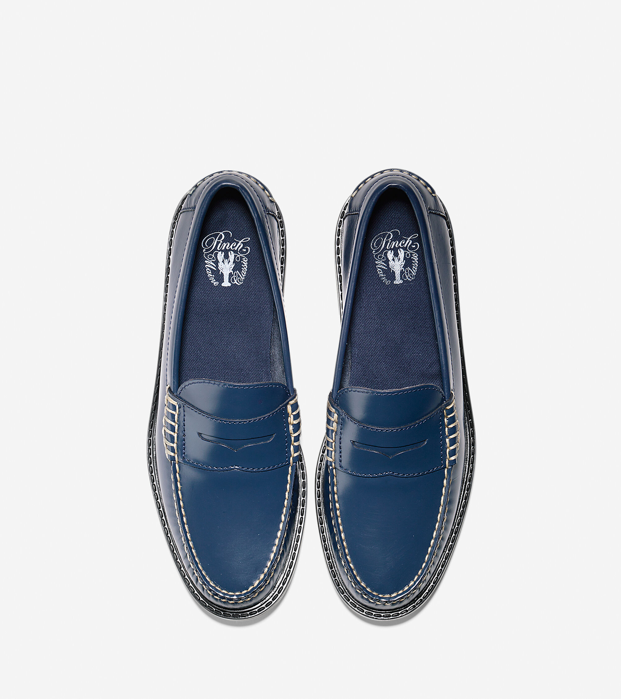 Mens Pinch Campus Penny Loafers in Blazer Blue