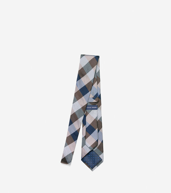 Even Plaid Tie