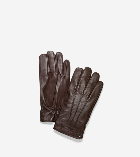 Scarves, Gloves & Hats > Spliced Lambskin Leather Gloves