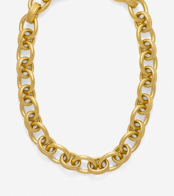 Tali Basket Weave Oval Link Necklace