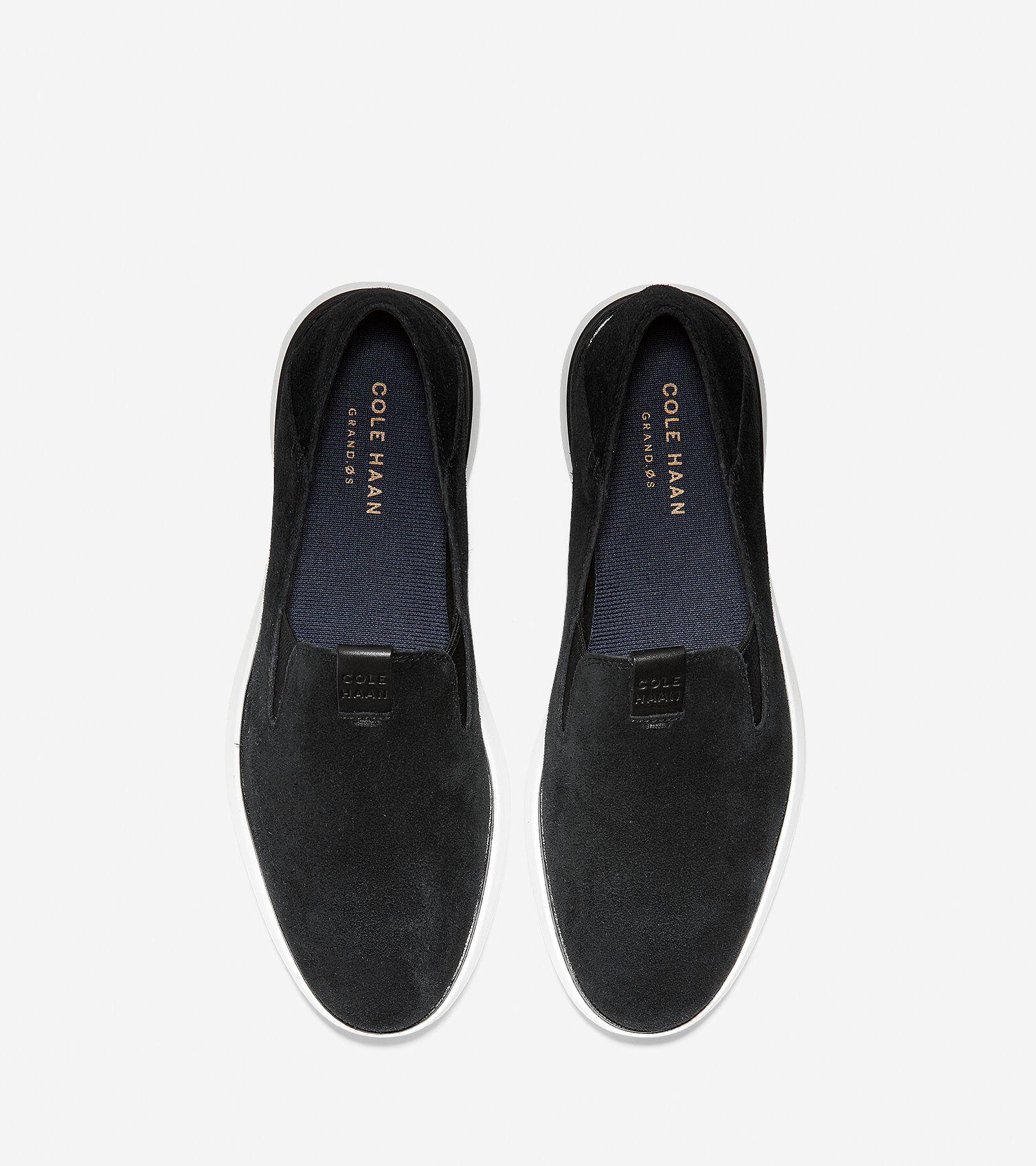 Men's Cole Haan Grand Horizon Slip On Loafer, Size: 9 M, Black/Optic White