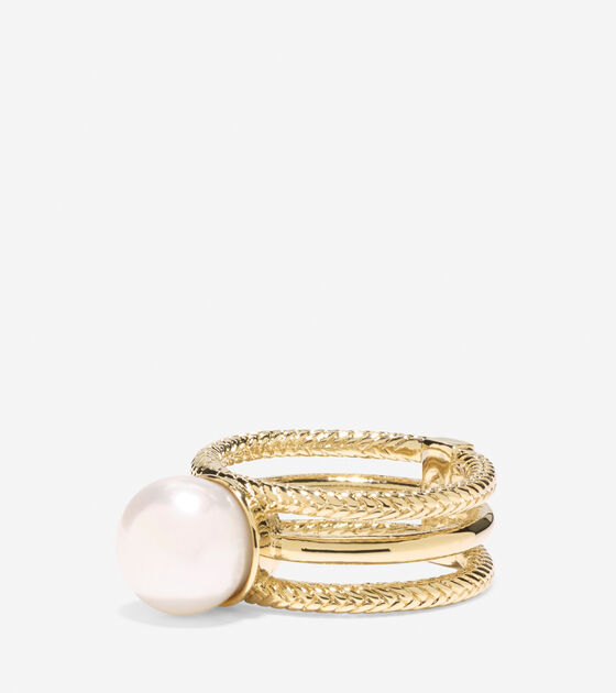 Bags & Outerwear > Tali Pearl 3 Row Fresh Water Pearl Ring