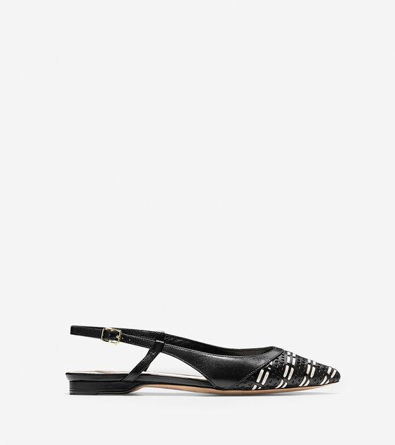 Shoes > Amalia Weave Sling Skimmer