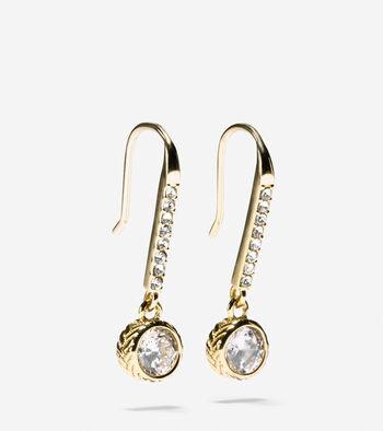 Starry Skies CZ Linear Drop Earrings