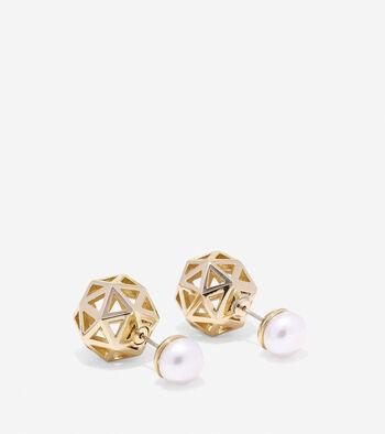Tali Pearl Fresh Water Pearl Front Back Earrings