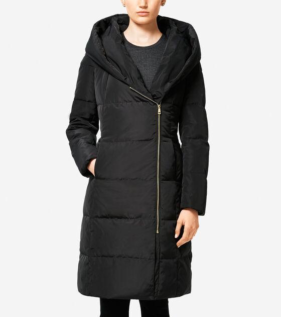 Outerwear > Signature 40-inch Convertible Collar Asymmetric Coat