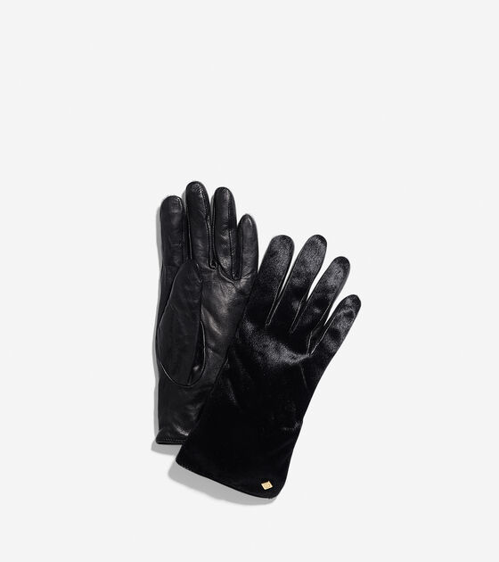 Scarves, Gloves & Hats > Haircalf Leather Gloves