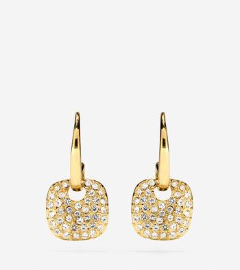 Gem Drops Crystal Circular Charm Earrings