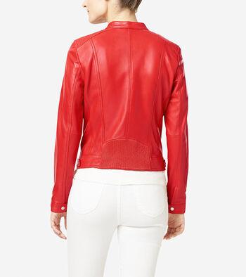 Italian Leather Modern Racer Jacket