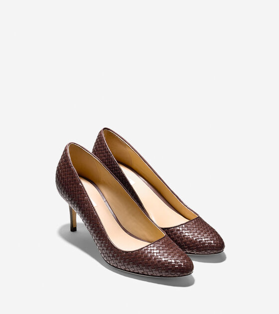 Bethany Weave Pump (65mm) - Almond Toe