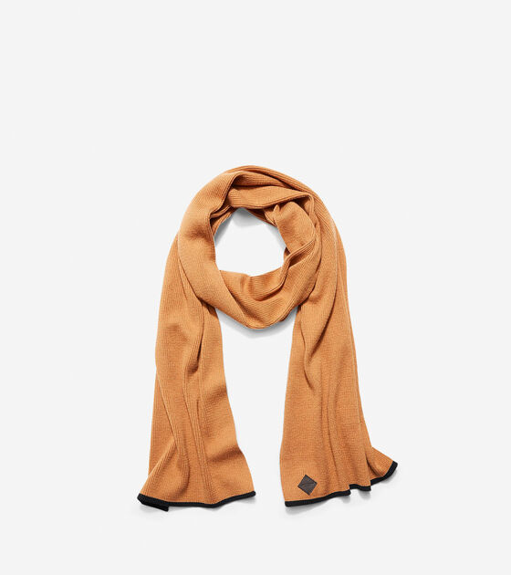 Accessories > Cashmere Blend Tipped Rib Muffler Scarf