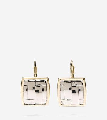 Genieveve Weave Graphic Lever Drop Earrings
