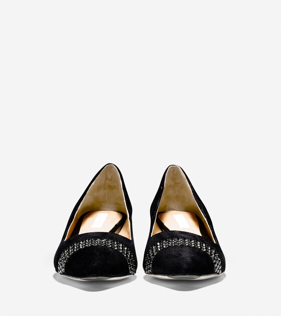Bradshaw Jewel Toe Pump (40mm) - Pointy Toe