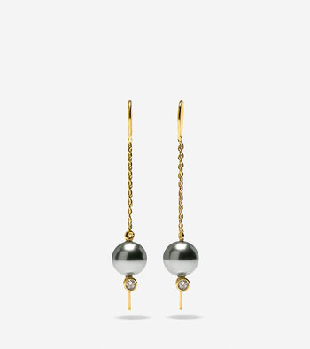 Starry Pearl Threader Earrings