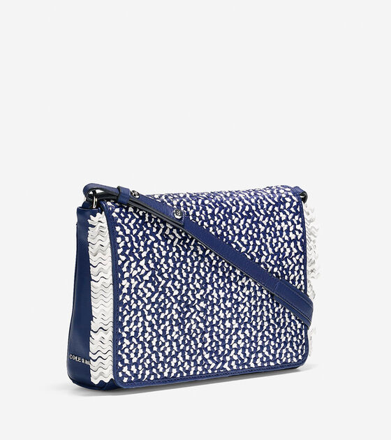 Ziva Weave Shoulder Bag