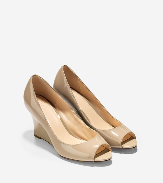 Lena Open Toe Wedge (75mm)
