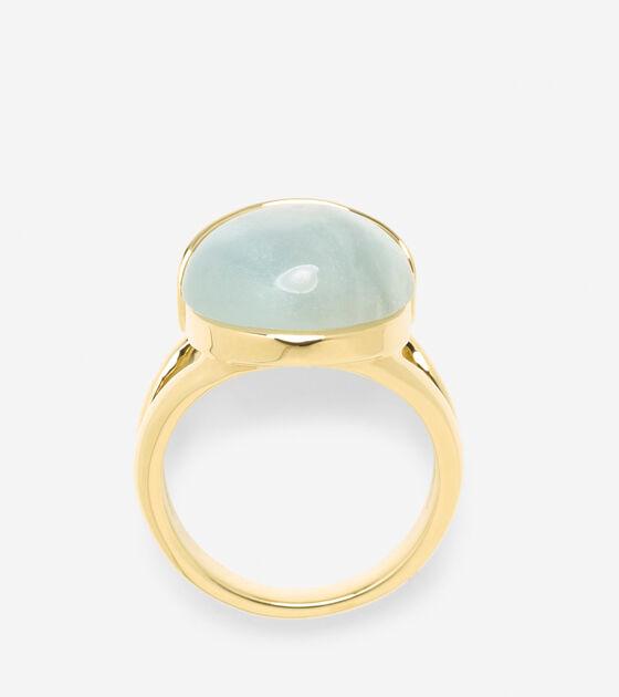 Semi-Precious Round Stone Ring
