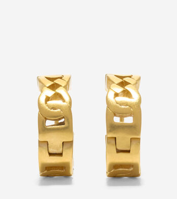 Tali Logo Link Huggie Earrings