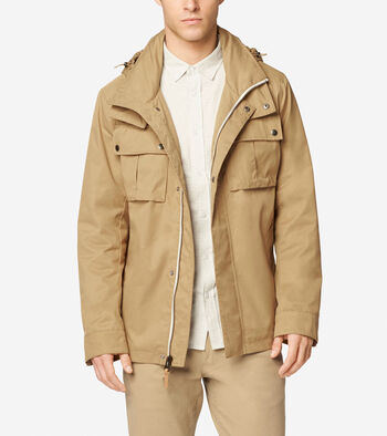Military Oxford Double Collar Jacket