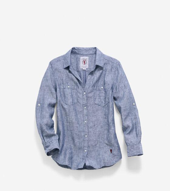 Apparel > Women's Pinch Long Sleeve Woven Shirt