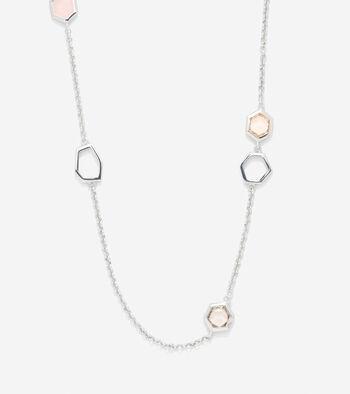 Stone Seaglass Illusion Necklace