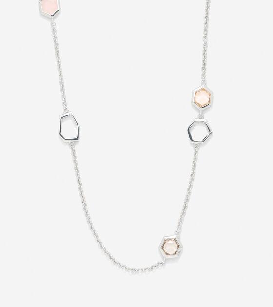 Accessories > Stone Seaglass Illusion Necklace