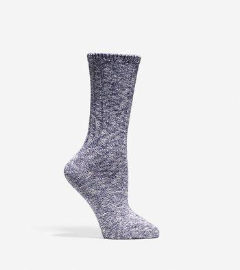 Turn Cuff Crew Sock