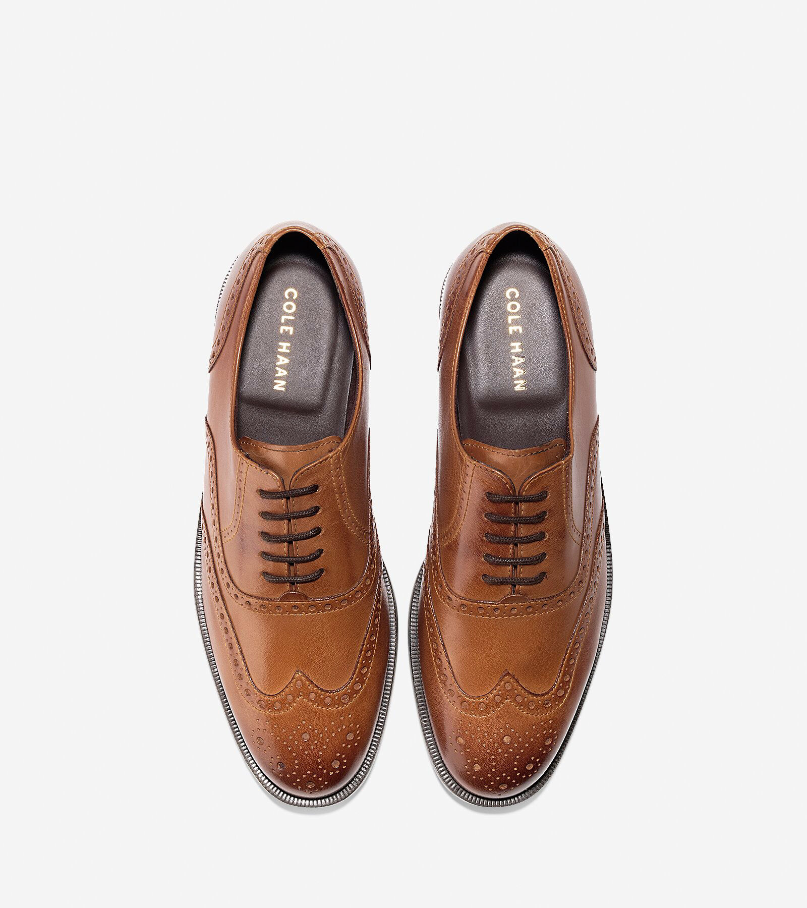 Mens Dustin Wing Ox C25805/British Tan M Cole Haan